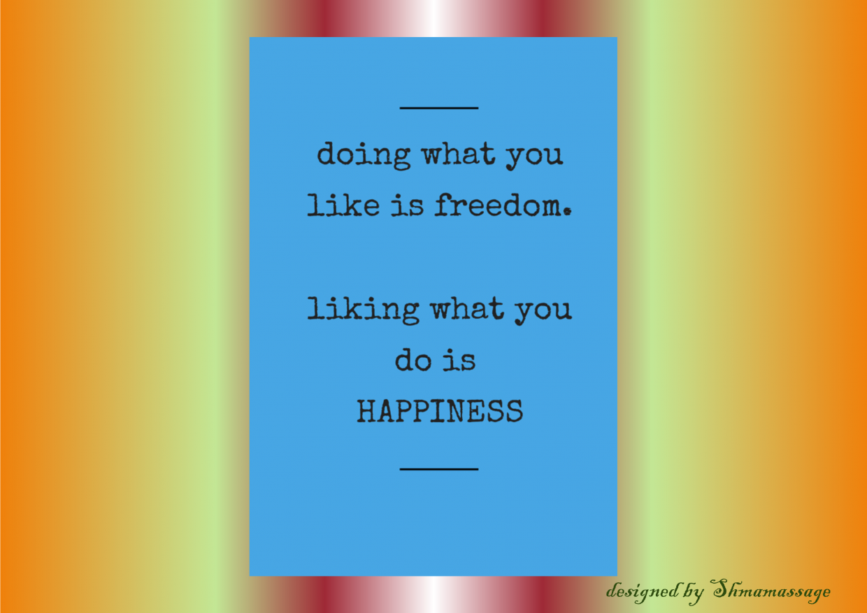 quote on happiness designed by Shmamassage, massagesalon Rotterdam