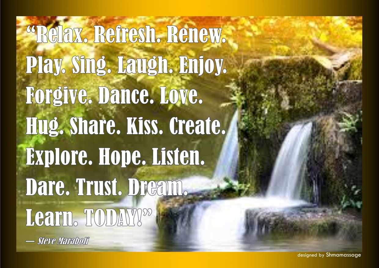quote relax, refresh, renew designed by Shmamassage