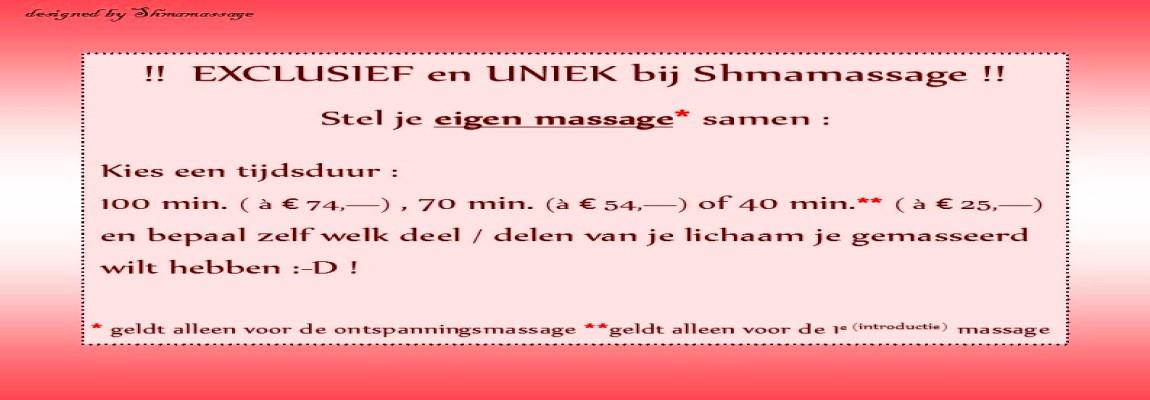 Zelf massage samenstellen bij de massagepraktijk voor Vrouwen in Rotterdam